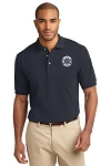 Kimberly Clark Fire Brigade Polo Shirt 100% Navy Mens/Unisex