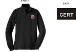 Kimberly Clark CERT 1/4 Zip Sweatshirt Black Womens