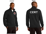 Kimberly Clark CERT 1/4 Zip Sweatshirt Black Mens/Unisex