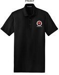 Kimberly Clark CERT Polo Shirt 100% Black Mens/Unisex