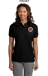 Kimberly Clark CERT Polo 100% cotton Black Womens