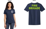 Kimberly Clark Fire Brigade Navy T-shirt Womens