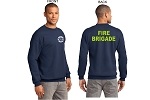 Kimberly Clark Fire Brigade Crew Neck 90/10 Sweatshirt Navy Mens/Unisex