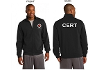 Kimberly Clark CERT Full Zip Sweatshirt Black Mens/Unisex
