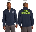 Kimberly Clark Fire Brigade Full Zip Sweatshirt Navy Mens/Unisex