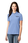 Kimberly Clark Polo 100% cotton Light Blue Womens