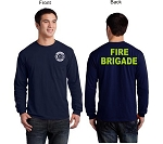 Kimberly Clark Fire Brigade T-shirt Long Sleeve  Navy Mens/Unisex