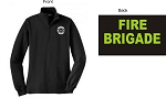 Kimberly Clark Firebrigade Navy 1/4 Zip Sweatshirt Womens
