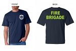 Kimberly Clark Fire Brigade POCKET T-shirt Navy Mens/Unisex