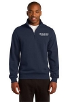 Kimberly Clark 1/4 Zip Sweatshirt Navy Mens/Unisex