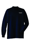 Kimberly Clark Mock Turtle Neck 100% Cotton Navy Mens/Unisex