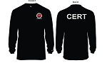 Kimberly Clark CERT T-Shirt Long Sleeve Moisture Wick Black Mens/Unisex