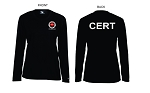 Kimberly Clark CERT T-Shirt Long Sleeve Moisture Wick Black Women