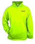 Kimberly Clark 1/4 Zip Sweatshirt Safety Green Mens/Unisex