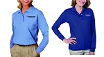 Kimberly Clark Polo Long Sleeve 60/40 Blend Womens