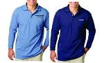 Kimberly Clark Polo Long Sleeve w/Pocket 60/40 Blend Mens/Unisex