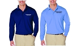 Kimberly Clark Polo Long Sleeve Moisture Wick Mens/Unisex