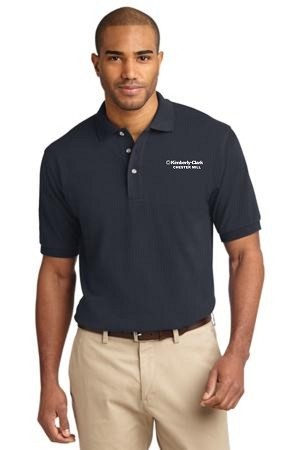 Kimberly Clark Polo Shirt 100% Navy Mens/Unisex
