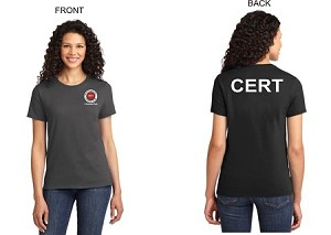 Kimberly Clark CERT Black  T-shirt Womens