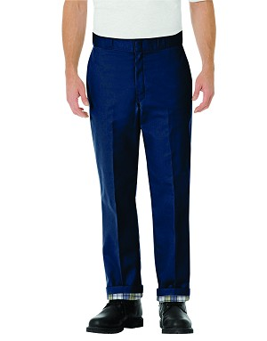 Kimberly Clark Flat Front Pants with Flannel Lined Pants Navy Mens