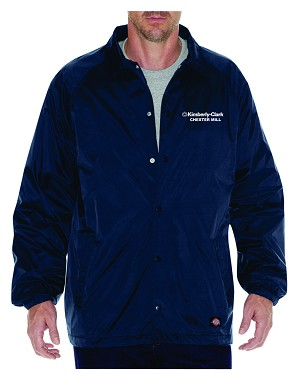 Kimberly Clark Dickies Snap Front Navy Jacket Mens/Unisex