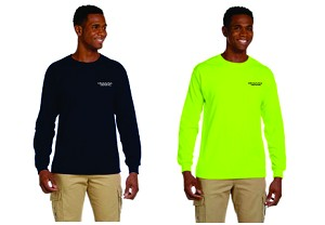 Kimberly Clark T-shirt Long Sleeve with POCKET Mens/Unisex