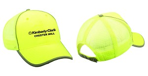 Kimberly Clark Safety Yellow Hat w/mesh back