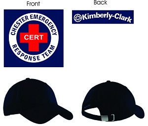 Kimberly Clark CERT Cotton Twill Hat Black