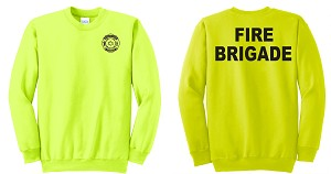 Kimberly Clark Fire Brigade Crew Neck Sweatshirt Safety Green Mens/Unisex