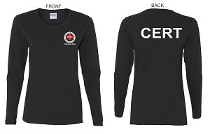 Kimberly Clark Cert T-shirt Long Sleeve Black Womens